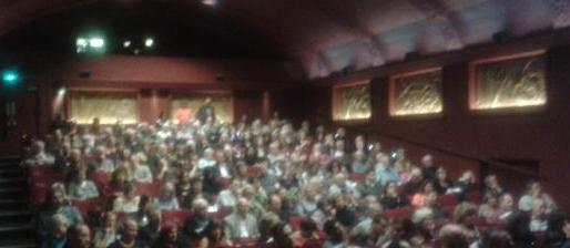 A packed audience at the Phoenix Cinema for the Premiere